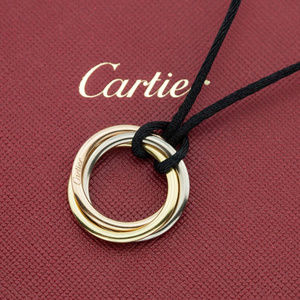 CARTIER 18K Tri-color Gold Rolling Womens Pendant